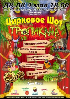 Для детей цирковое шоу «ТРОПИКАНА»